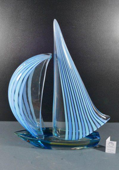 Sculpture Murano Glass Sailboat – Venetian Glass