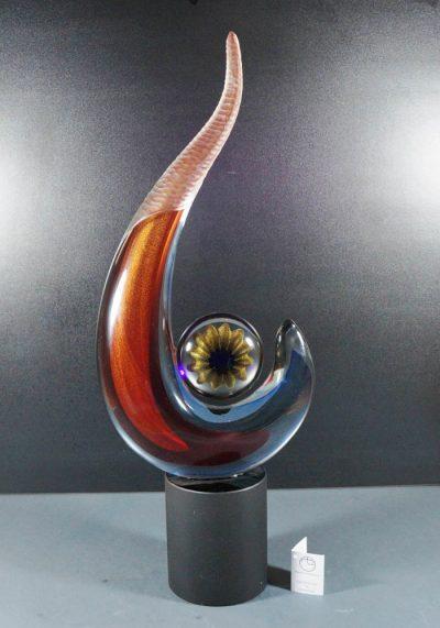 Murano Glass Abstract Sculpture – Alberto Donà Master – Murano Art Glass
