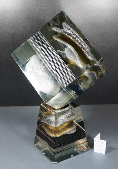 Murano Glass Square Sculpture – Venetian Glass