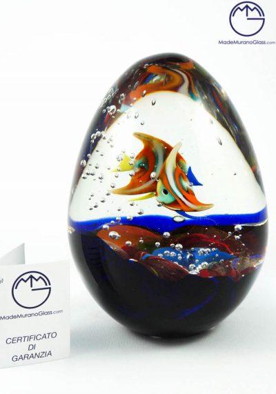 Murano Glass Aquarium Egg – Murano Art
