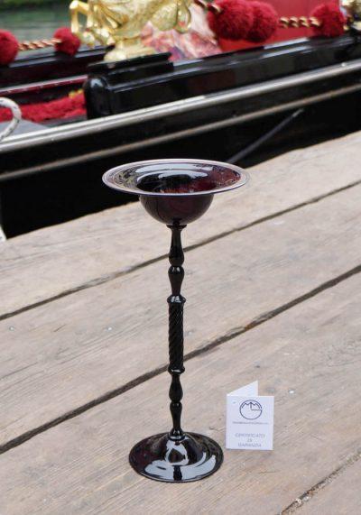 Venetian Glass Black Goblet – Murano Art