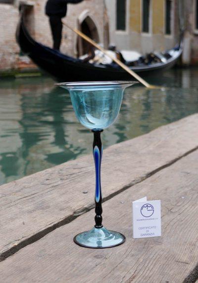 Venetian Glass Aquamarine Goblet – Murano Collection