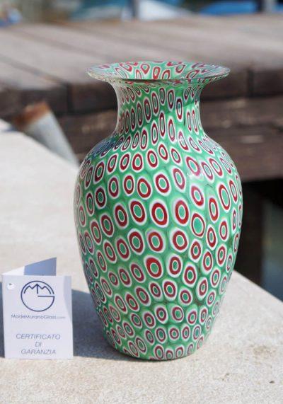 Venetian Glass Vase – Amos – With Murrina Millefiori