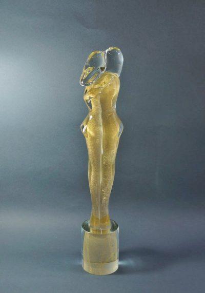 Murano Glass Figurines – Golden Lovers – Master Anatrà Renato