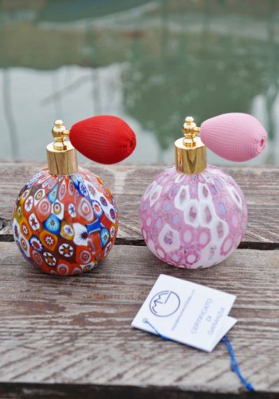 Couple Of Fragrance Bottles In Murano Glass With Murrina – Murano Collection