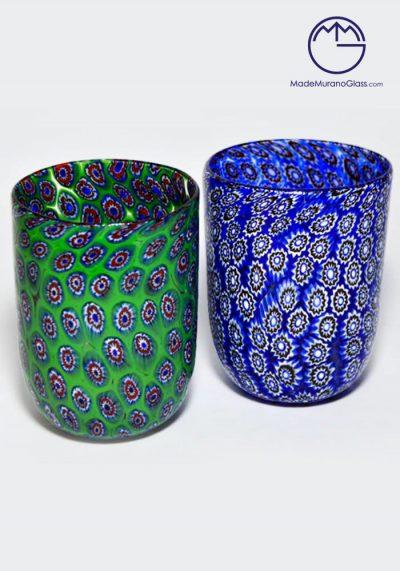 Set 2 Murano Drinking Glasses With Murrina – Murano Collection