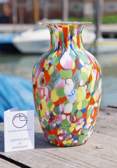 """Venetian Glass Vase With """"MACE"""" – Murano Glass"""