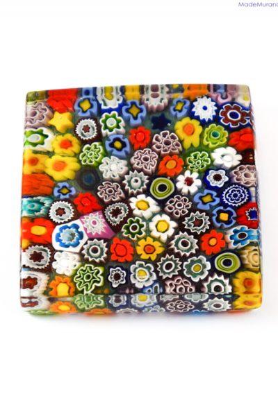 Murano Glass Paperweight With Murrine Millefiori – Venetian Glass