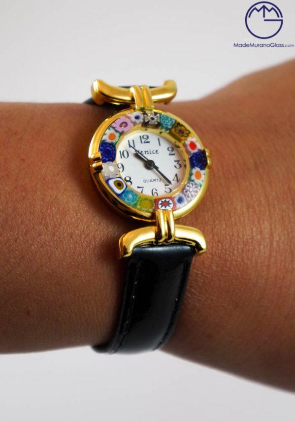 murano glass watch