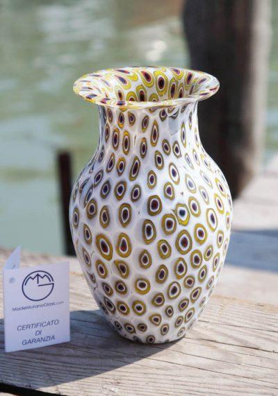 Venetian Glass Vase – Luce – With Murrina Millefiori