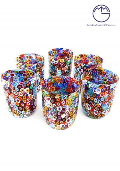 Set 6 Murano Drinking Glasses With Murrine – Murano Collection-