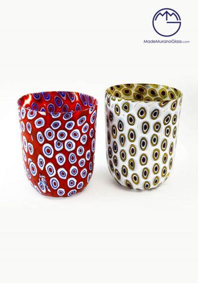 Set Of 2 Murano Drinking Glasses – Goto With Murrina – Venetian Glass