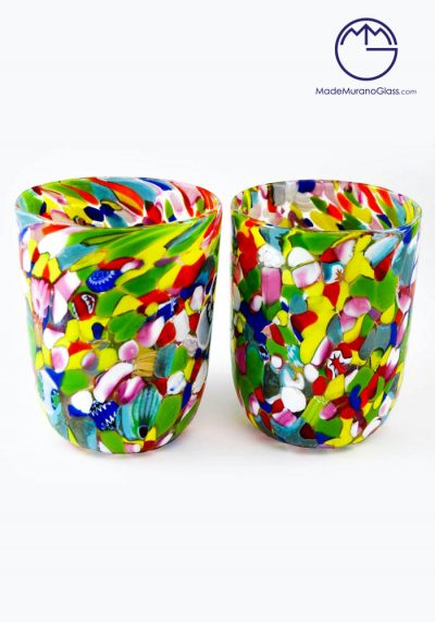 Set Of 2 Murano Drinking Glasses – Goto With Mace – Murano Collection