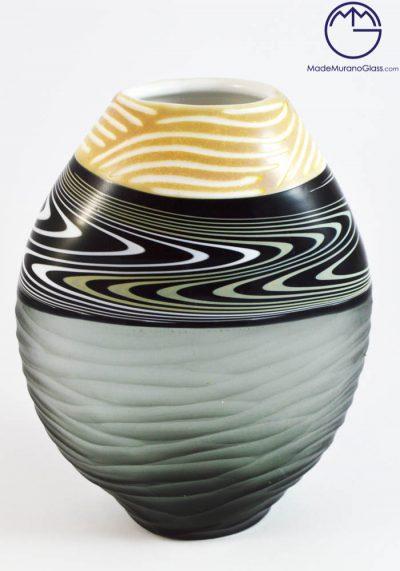 Fryk – Venetian Glass Vase Engraved