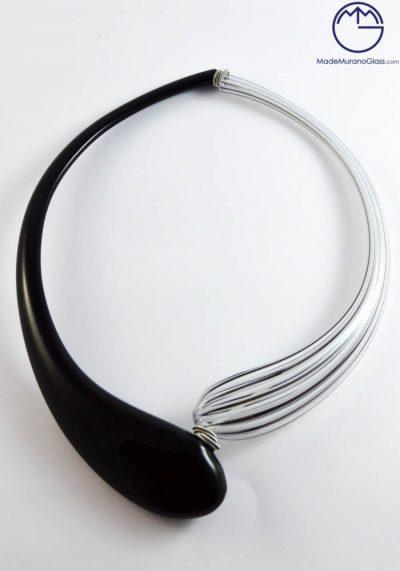 Montana – Venetian Glass Jewellery – Pendant With Filigrana In Murano Glass