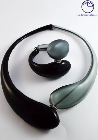 Liverpool – Necklace And Bracelet In Murano Glass – Venetian Glass Jewellery
