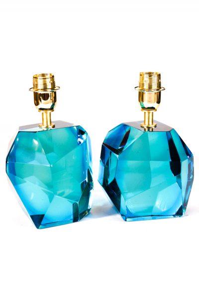 Rocce – Two Murano Glass Lamps Aquamarine