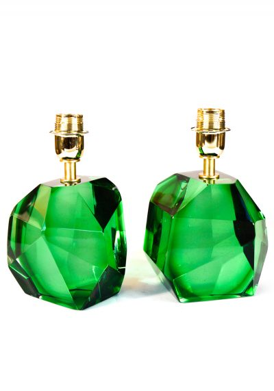 Rocce – Two Murano Glass Lamps Green