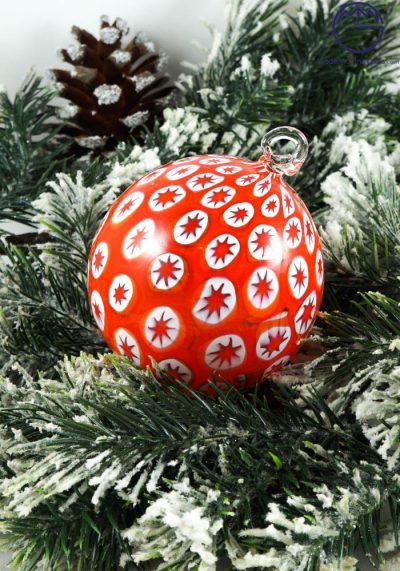 Reece – Christmas Ball In Venetian Blown Glass With Murrina Millefiori