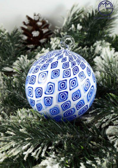 Christmas Ball In Murano Glass With Murrina Millefiori