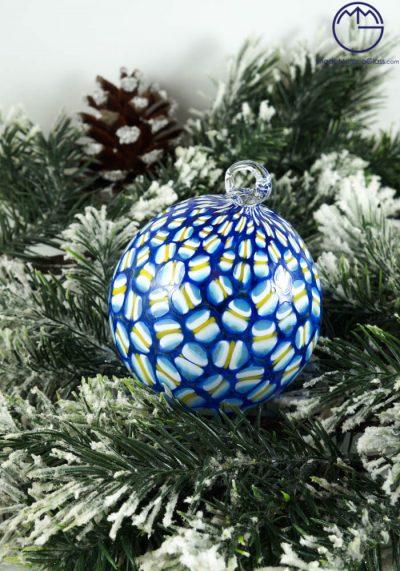 Jacky – Christmas Ball In Venetian Blown Glass With Murrina Millefiori