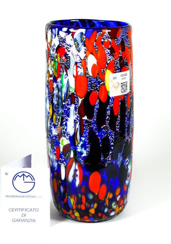 Cuica - Vaso In Vetro Murano Fantasia Blu
