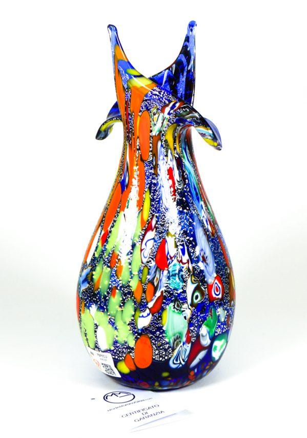 Rols - Vaso In Vetro Murano Fantasia Blu