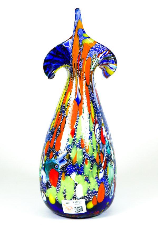 Rols - Vaso In Vetro Murano Fantasia Blu Rols murano glass vase