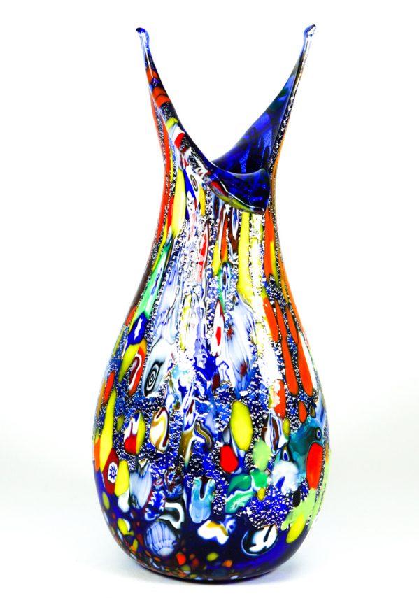 Rols - Vaso In Vetro Murano Fantasia Blu blue murano glass vase