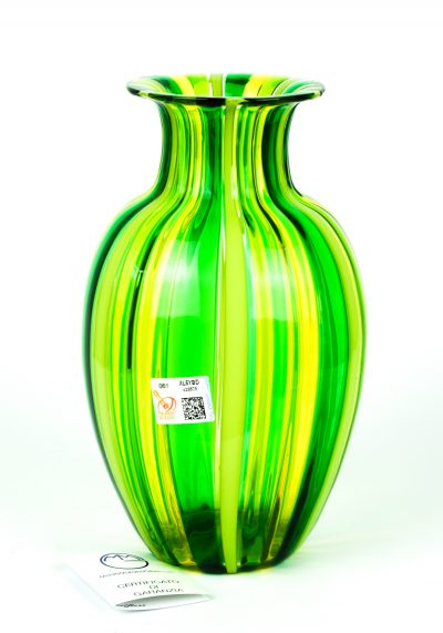 Alma – Murano Glass Vase Green