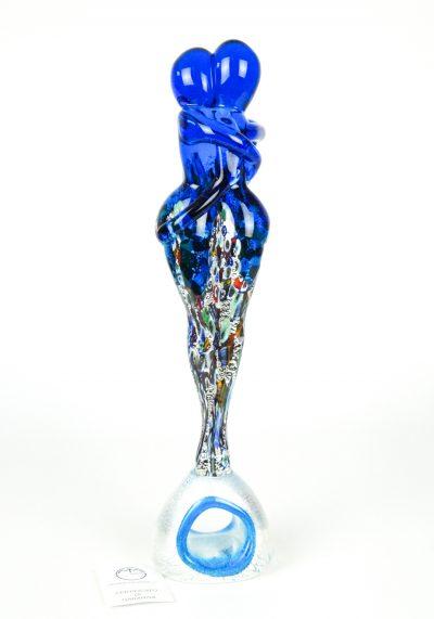 Lovers Sculpture – Millefiori Light Blue And Silver