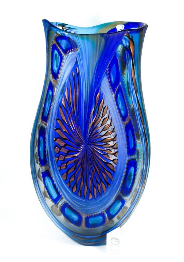 Versus - Vaso Esclusivo Vetro Murano Battuto - Made Murano Glass