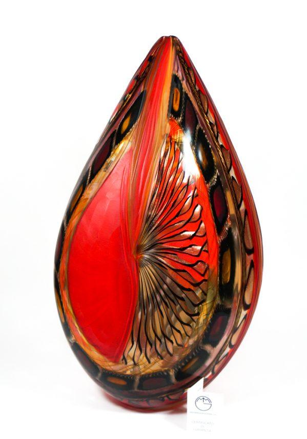 Energy - Vaso Esclusivo Vetro Murano Battuto - Made Murano Glass