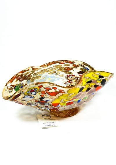 Navarra – Amber Bowl Fantasy – Made Murano Glass