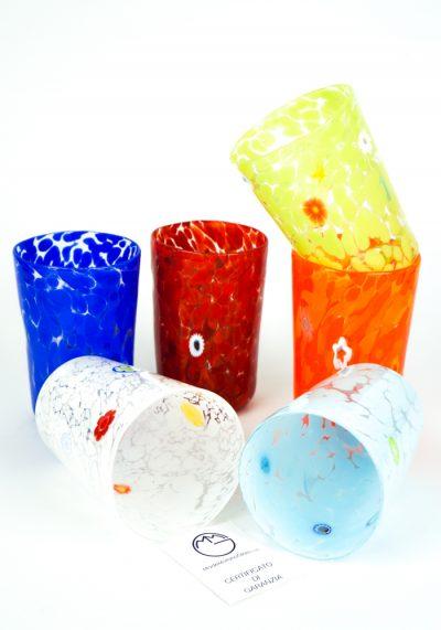 Multicolor – Set Di 6 Bicchieri Conici In Vetro Soffiato