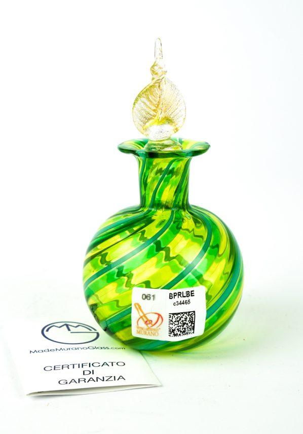 Bottiglietta In Canna Verde - Made Murano Glass