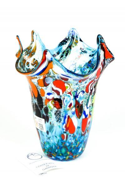 Divo – Vase Fantasy Aquamarine – Made Murano Glass