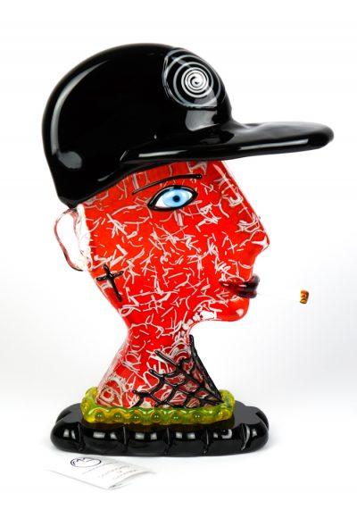 Sculpture Tribute Rapper – Made Murano Glass
