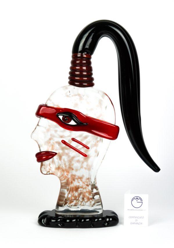 Scultura Faccia Guerriero - Made Murano Glass