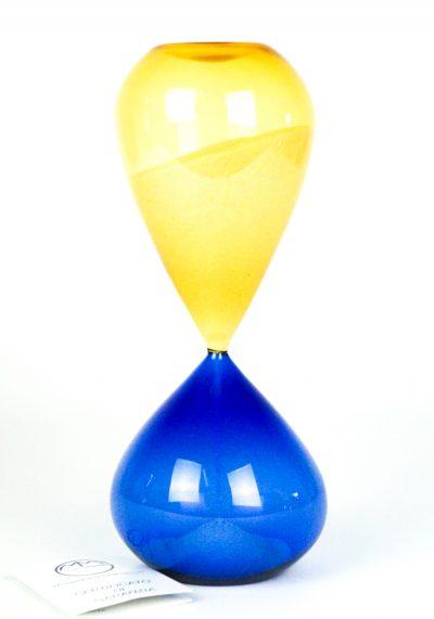 Murano Hourglass – Blue Amber