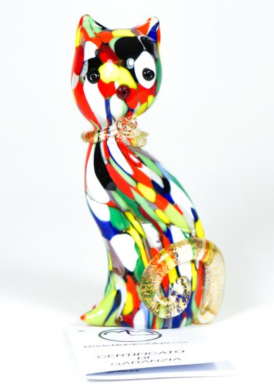 Cat With Mace Multicolor And Gold