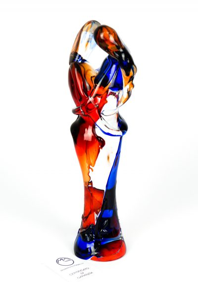 Lovers Sculpture – Red And Blue – Made Murano Glass