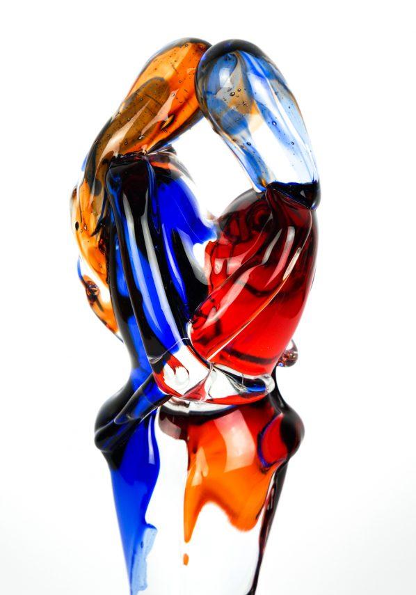 Scultura Di Amanti - Rosso E Blu - Vetro Di Murano murano glass lovers