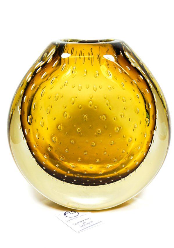 Rita - Vaso Vetro Murano Ambra Sommerso - Made Murano Glass