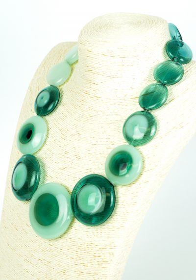 Indio – Emerald Necklace – Made Murano Glass