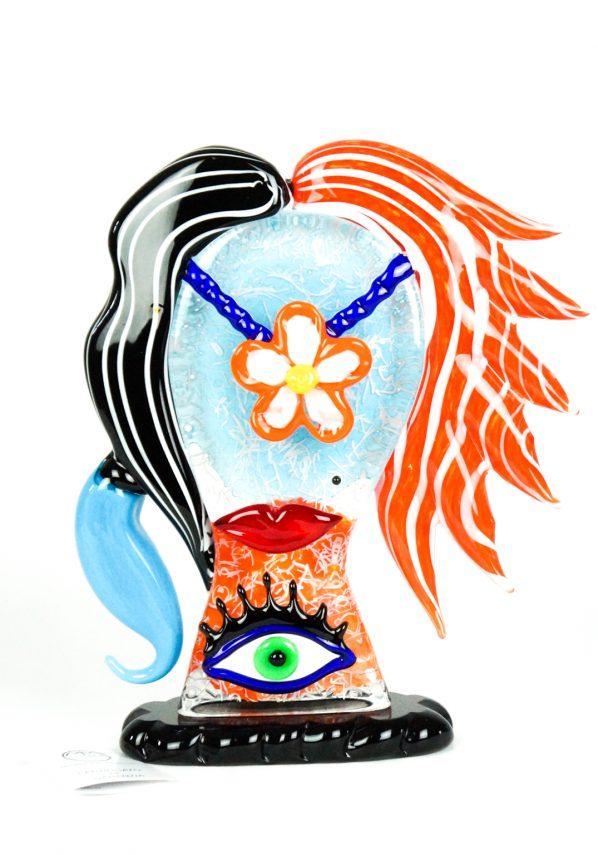 Alice - Scultura Testa Di Donna  - Pop Art