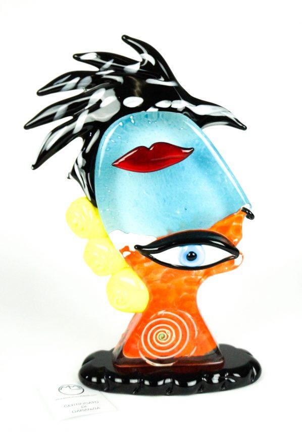 Crazy - Scultura Testa Di Uomo - Pop Art