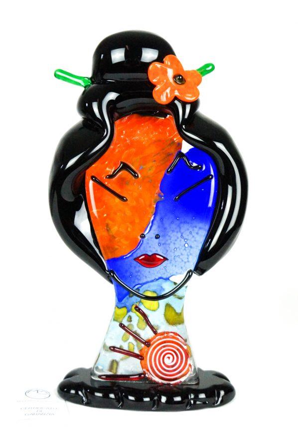 Asia - Scultura Testa Di Donna  - Made Murano Glass