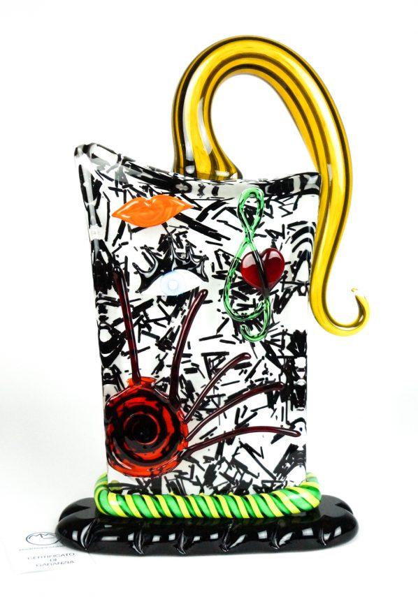 Cube - Scultura Testa Astratta  - Made Murano Glass