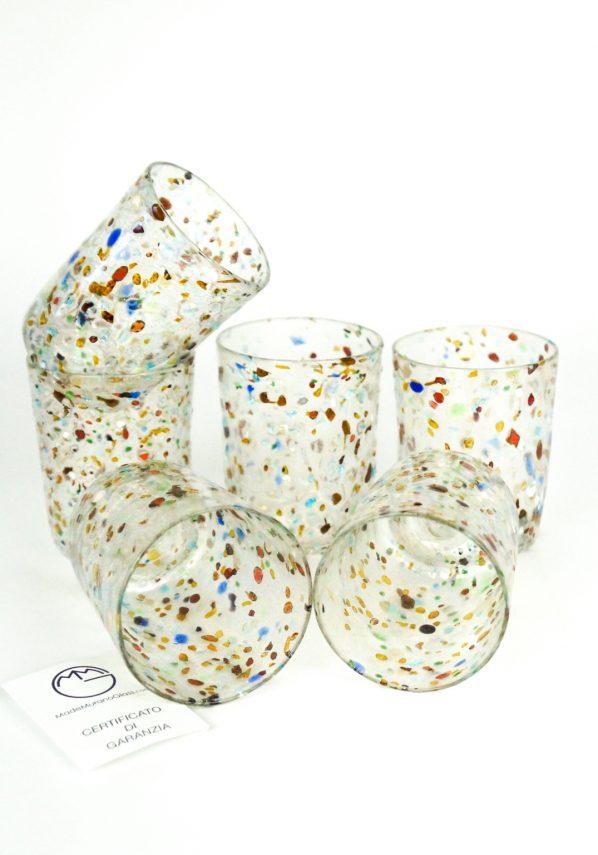 Baffo - Set Di 6 Bicchieri Per Vino In Vetro Soffiato